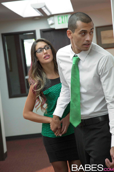 August ames sneaks keen to the baths to fuck a coworker