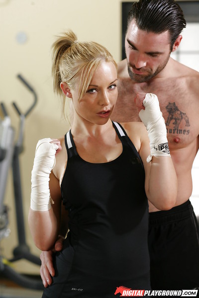 Hardcore fuck scene with a breasty milf Kayden Kross afterwards a workout
