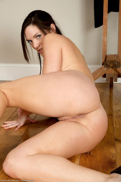 Hungry milf with tremendous bazookas benefits from exposed