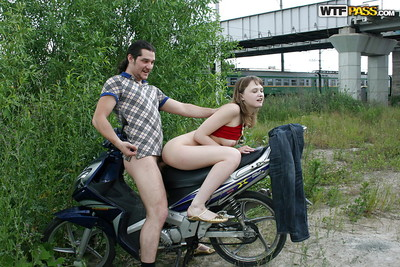 Sassy nineteen floosie with mini mambos attains screwed and facialized outdoor