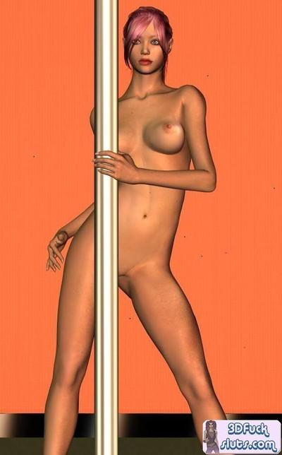 Redhead animated film stripper pretty