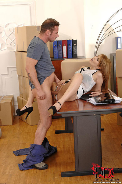 Office Gal Benefits from Bonked Hardcore