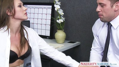 Callie calypso admires a dear assfuck in the office