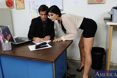 Damp breasty dark brown worker puts into her boss for such like this chick needs.