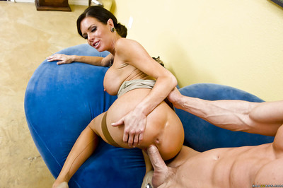 Sticky MILF in  Veronica Avluv receives her bawdy cleft licked and owned hardcore