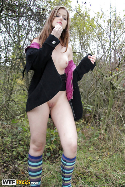 Sexually excited amateur attains screwed and facialized in the public park