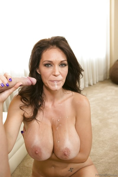 Cougar pornstar with dark hair Charlee Tag on enjoys hardcore sexual act