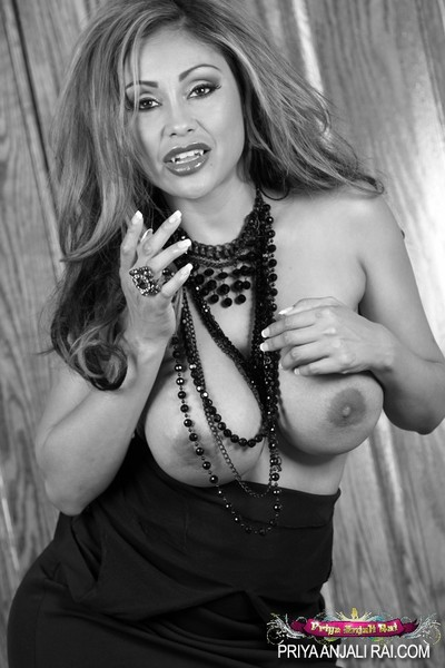 Glamorous Indian babe, Priya Rai, makes for one wild vampire erotic dance with no her clothing to drip her perspired biggest billibongs and taut body!