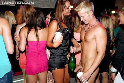 Dirty-minded amateurs going enthusiastic at the extreme drunk gathering