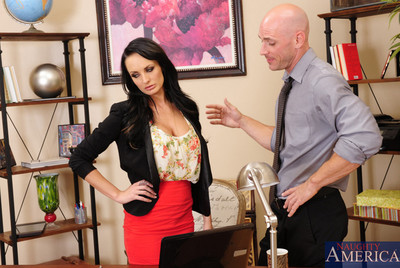 Alektra Blue is sexually aroused at the office and stuck so that babe chooses to fuck a worker and have moist copulation on her desk.