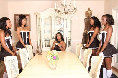 Ebon sweeties chanell heart and layton benton and their girlfriends are smokin