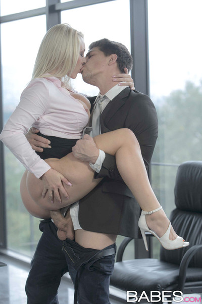 Victoria summers seduces her boss with her dazzling bends over