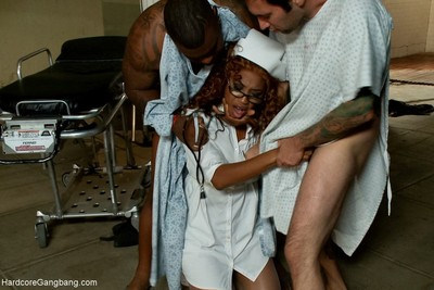 Her principal groupie  appealing ebon nurse large round arse