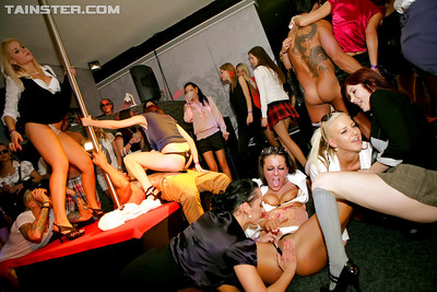 Sexually aroused MILfs fuck and blow off heavy shlongs at the hawt groupsex all together