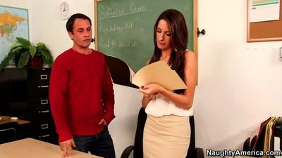 Breasty mentor kortney kane takes kindness of students