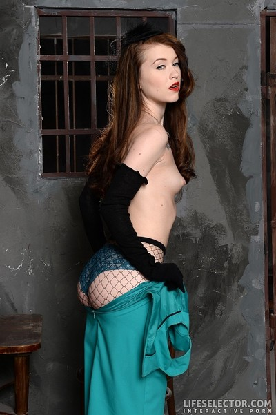 Misha cross striptease off her fishnets
