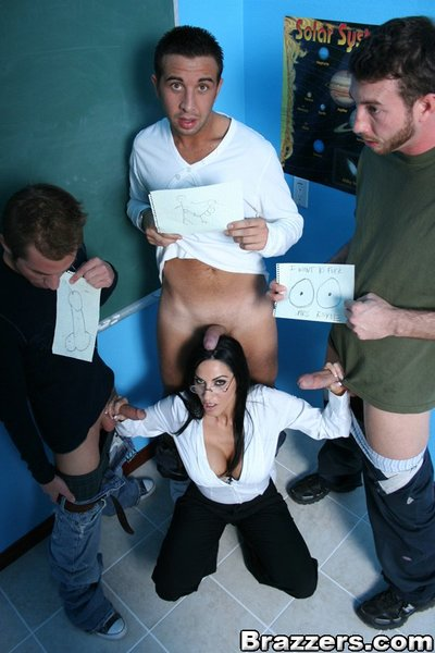 MILF educator Veronica Rayne has 3 giant weenies for she is