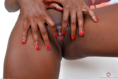 Tattooed ebony MILF baring diminutive front bumpers and nifty tie roofed ebony arse