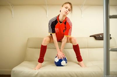 Adolescent dirty soccer aficionado