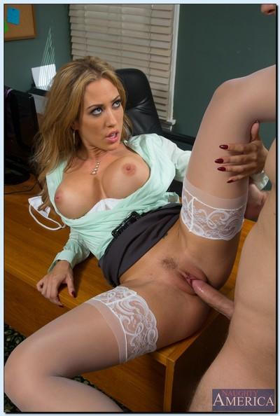 Raunchy secretary Capri Cavanni has some hardcore getting pleasure with her boss