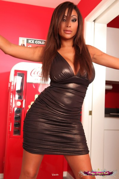 Priya rai removes clothes off her extreme costume in the hallway