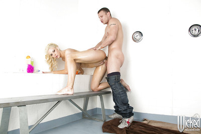 Courtney Taylor deepthroats a enormous boner and gains anally crashed
