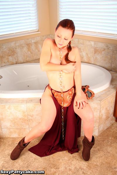 Titsy redhead star wars cosplay