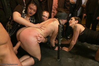 Fucktoy marley blaze attains a banging in her number one public disgrace