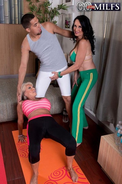 Milf sally dangelo and rita daniels having a massive workout and a
