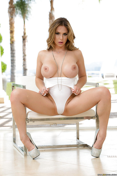 Fairy European pornstar Rachel RoXXX posing outdoors in one piece swimsuit