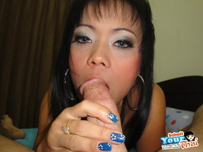 Thai brunette hair purchases her face and love-cage screwed