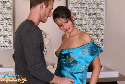 Charming darlings going hot with massage