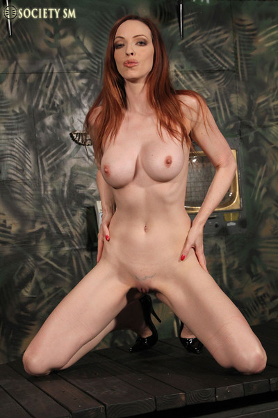 Emily marilyn redhead is rope fastened getting her anus spanked red