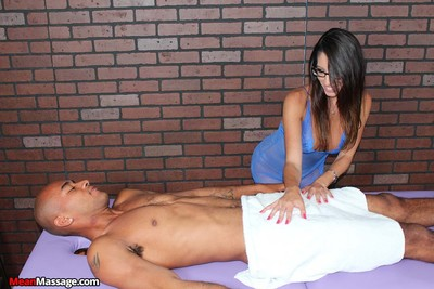 Dava foxx massaging a male and prostate massage his knob for some ball cream
