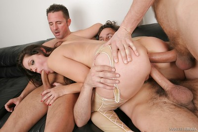 Passionate pornstar Bobbi Starr takes a shlong in all 3 fuck holes