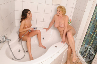 The majority ecstatic clammy milfs and lusty matures have fun some mind-blowing female-on-female se