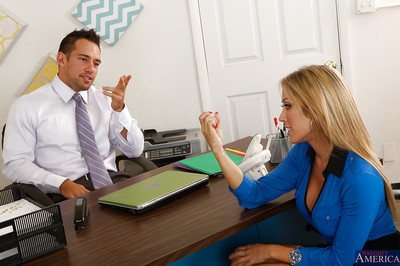 Nice-looking MILF enjoys raw sexual act with her office partner and accepts facialized