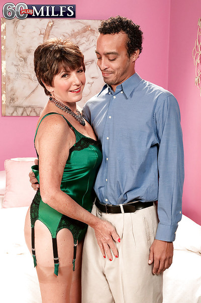 Astonishingly seductive and wild grown up Bea Cummins got dresses up in expensive inexpert underware and then drilled by well hung infant man.