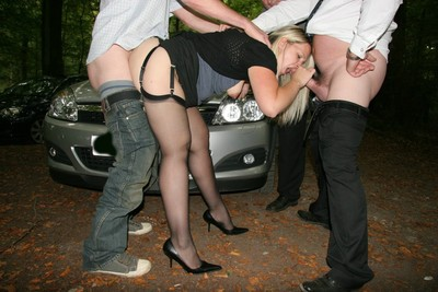 British wife smoking right after shady in dogging porn activity
