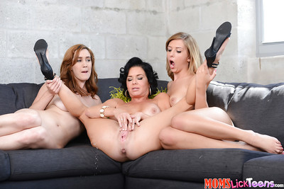 Grown up and younger lesbian hotties Veronica Avluv, Kelly Greene and Abby North trib