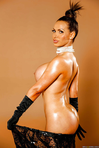 Astounding tanned milf Nikki Benz positions enjoy a celebrated Holywood star!