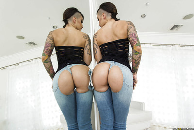 Latina chicito girl with sensible tattoos and maddening booty Alby Rydes