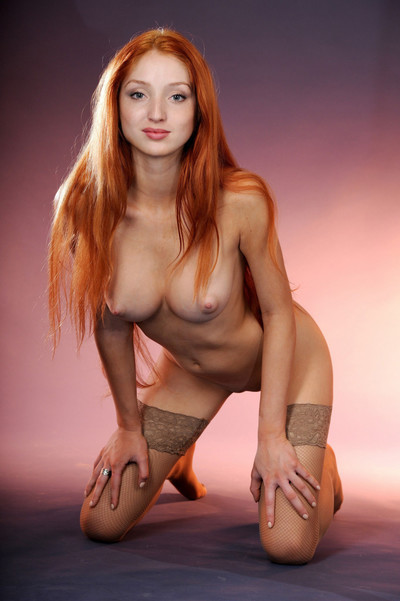 Nasty redhead pretty gets undressed as was born