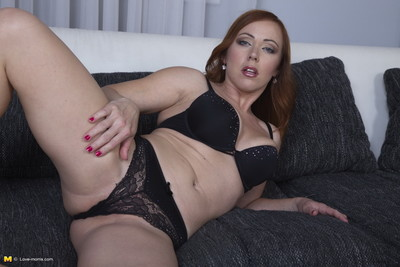 Moist MILF playing with she