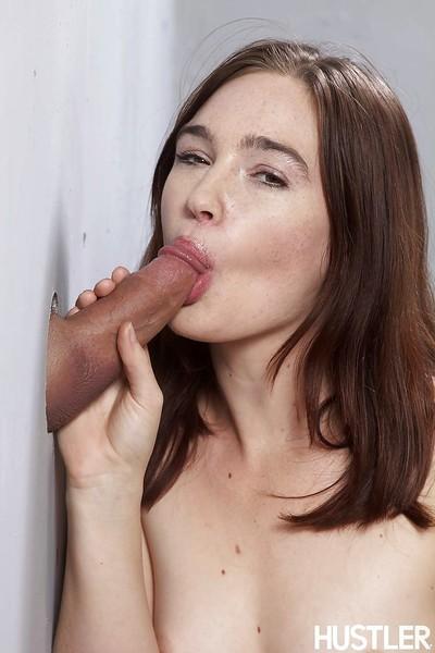 Gloryhole deed with an wonderful young pornstar Jodi Taylor and a vast rod