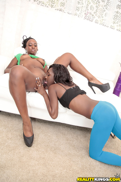 Brown chicos Naomi Stake and Molleuex Au Chocolat have some woman-on-woman having benefit from