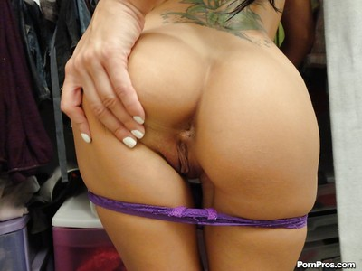 Infant girlfriend Breanne Benson disrobes and shows her palatable holes