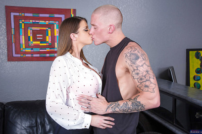 Breasty MILF Brooklyn Tail showing off her huge scones and orally fixating