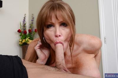 Vision blocking brunette hair mother with vast billibongs Darla admires engulfing snakes