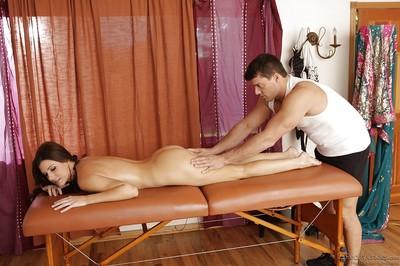 Seductive MILF India Summer acquires slammed hardcore on the massage table